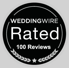 261x260 Wedding Shop 100 Reviews badge