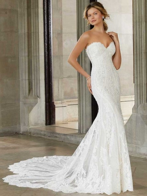 Morilee 2143 fitted lace wedding dress