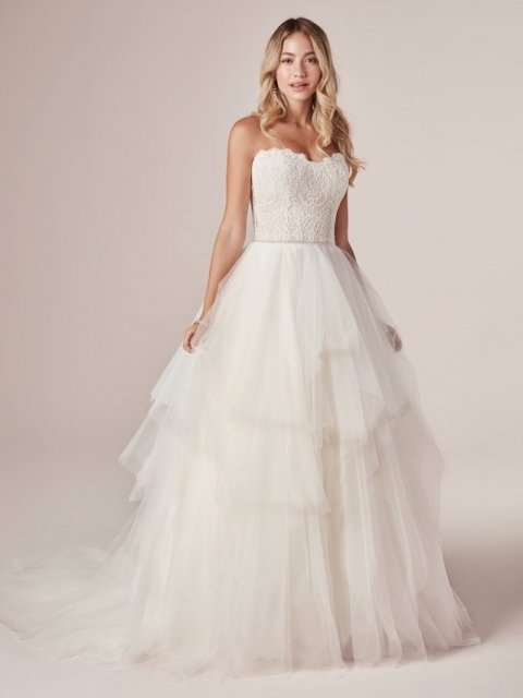 Rebecca-Ingram-Toni-20RC250-Main Lace top with tulle skirt ballgown