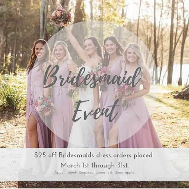Bridesmaid event month of March