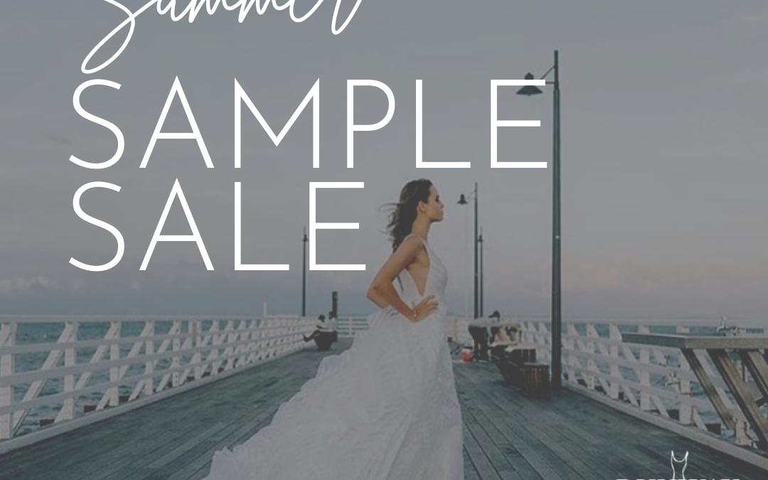 Summer Sample Sale wedding dresses on sale