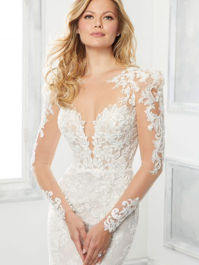brinkley long sleeve wedding dress