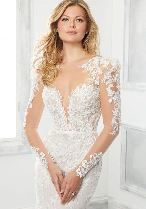 brinkley long sleeve wedding dress