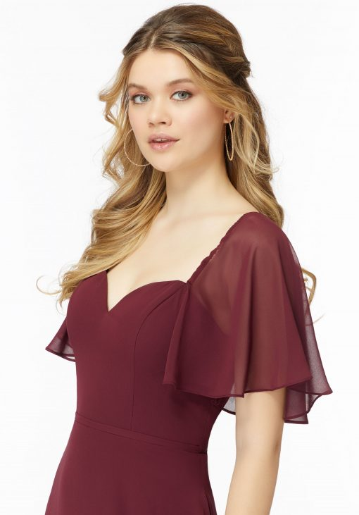 Mila 21722 Morilee chiffon bridesmaid dress