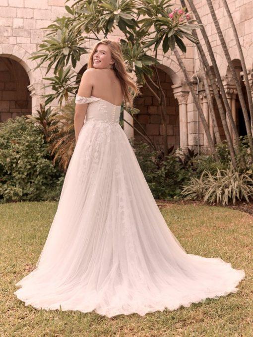 Flora Romantic and elegant criss-cross ruched princess wedding gown at Runway Bridal