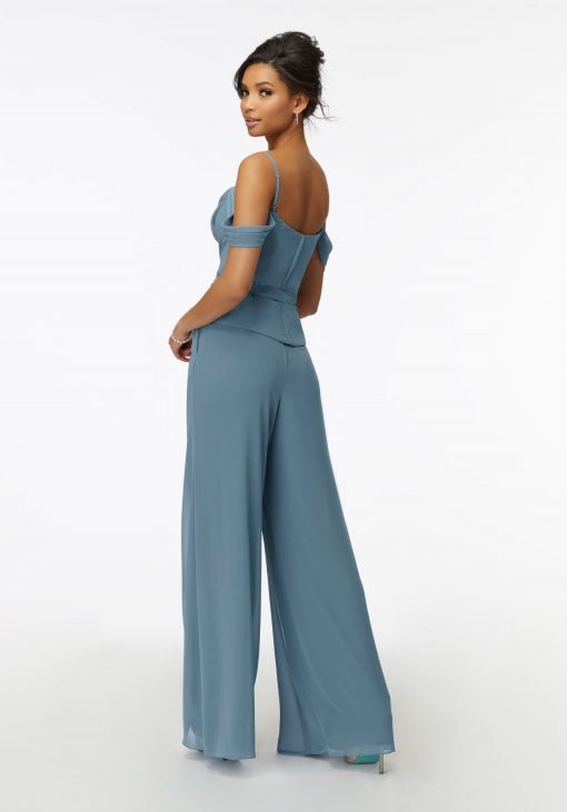 Clover 21739 Two Piece Chiffon Pantsuit by Morilee