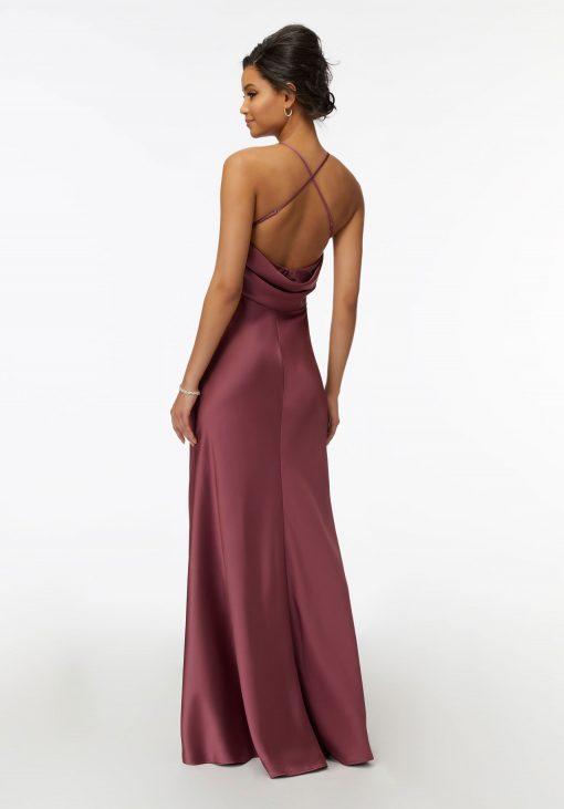 Dixie 21740 V-Neck Satin Bridesmaid Dress by Morilee