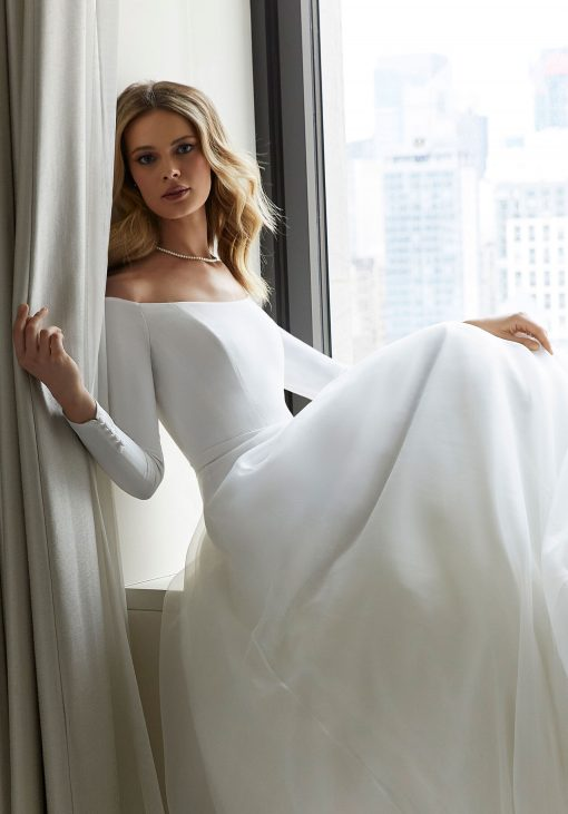 Cheryl long sleeve wedding dress by Morilee 12122