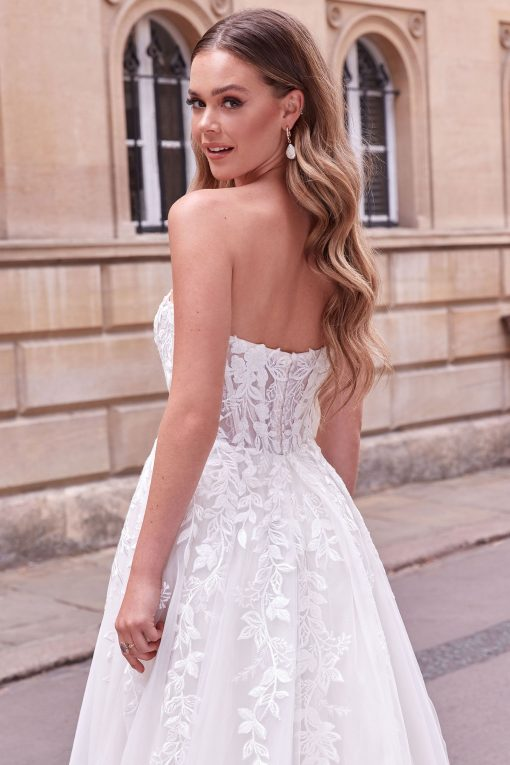 Strapless Sweetheart Ball Gown by Justin Alexander