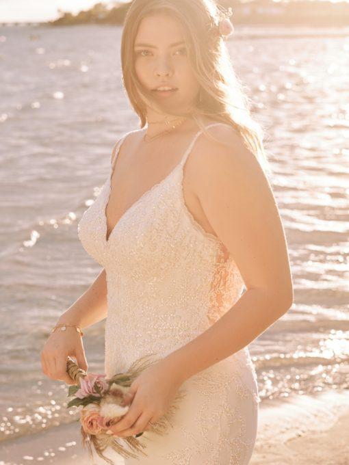 Rebecca-Ingram-Carmen-Lynette-fitted simple wedding dress