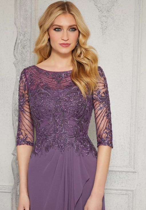3/4 sleeve mother of the bride dress